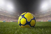 サッカーボールとスタジアム
