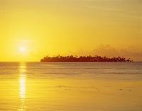夕陽 ボラボラ タヒチ