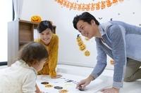 ハロウィンを楽しむ日本人家族