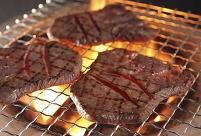 焼肉 牛タンの網焼き