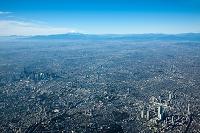 池袋、早稲田、新宿周辺より富士山方面(撮影高度2,000mより撮影)