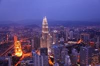 マレーシア KLタワーから見たクアラルンプール