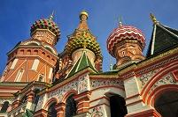 聖ワシリー聖堂のカラフルな装飾
