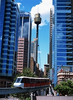 オーストラリア・シドニー モノレールとセンターポイント