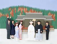 結婚式   (ペーパークラフト)