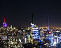 アメリカ マンハッタン 夜景