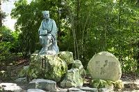 山形県 立石寺の松尾芭蕉像