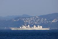 神奈川県 横須賀市 海上自衛隊の護衛艦きりさめ