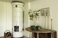 北欧風暖炉があるインテリア