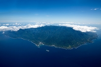 屋久島全景 栗生地区より北方面
