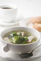 緑の野菜のスープ