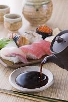 醤油と寿司