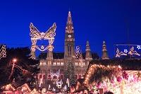 オーストリア ウィーン市庁舎前のクリスマス