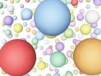カラフルな球体のある背景
