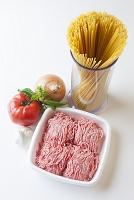 スパゲティミートソースの具材