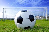 サッカーボールとゴールネット