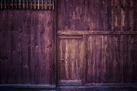 古い板塀と木戸 木目