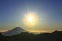 静岡県 富士見平 富士山と朝日