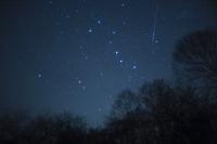 栃木県 北斗七星とふたご座流星