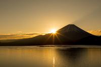 本栖湖の朝日 富士河口湖町 山梨県