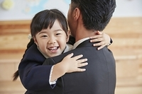 笑顔の日本人親子