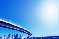 高速道路と太陽