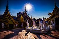 タイ スコータイ 青い寺院 ワット・ピパット