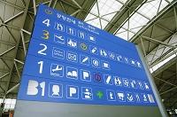 韓国 インチョン空港 案内板