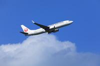 離陸したジェット旅客機 日本航空