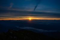 唐松岳山頂から見る御来光