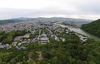 京都 天龍寺・嵐山から市街を望む