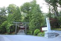 栃木県 日光二荒山神社 鳥居と参道