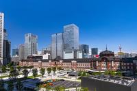 東京都 丸ビルから見た東京駅丸の内駅舎