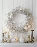 クリスマスの飾りとキャンドル