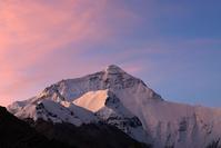 中国 チベット ベースキャンプから見たエベレスト