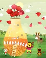 花瓶と動物たち