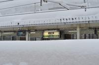 新潟県 大雪の上越線 越後中里駅