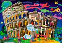 世界遺産アート イタリア コロッセオ