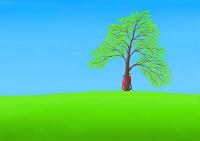 樹の下のカップル
