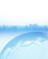 地球のイメージ CG 新宿高層ビル群