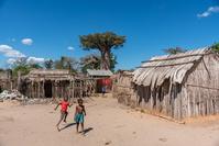 マダガスカル バオバブ街道の村落の様子
