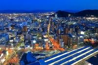 香川県 高松市街の夜景