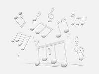 音符のモノクロ