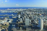 ランドマークタワーから眺める横浜の街並み