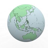地球儀 アジア 日本