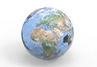地球儀 アフリカ ヨーロッパ