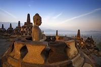 インドネシア ジャワ ボロブドゥール寺院