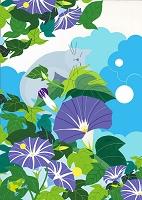 猫と花景8月