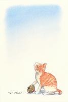ネコに独楽