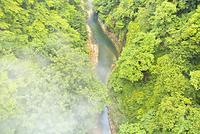 秋田県 噴煙を上げる小安峡